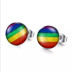 Jewelry - RAINBOW STUD EARRINGS PRIDE GAY LGBT